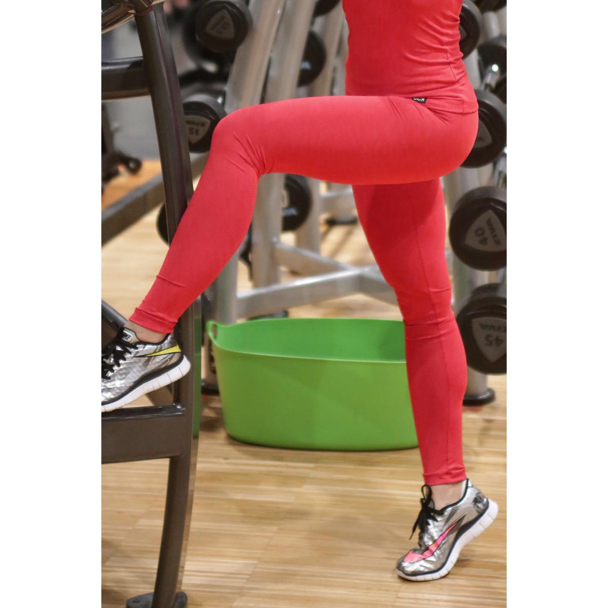 Piros basic női fitness sport leggings