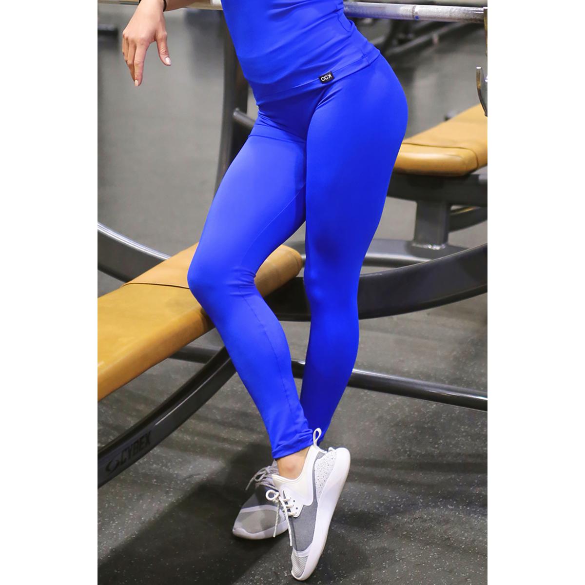 Királykék basic női fitness sport leggings
