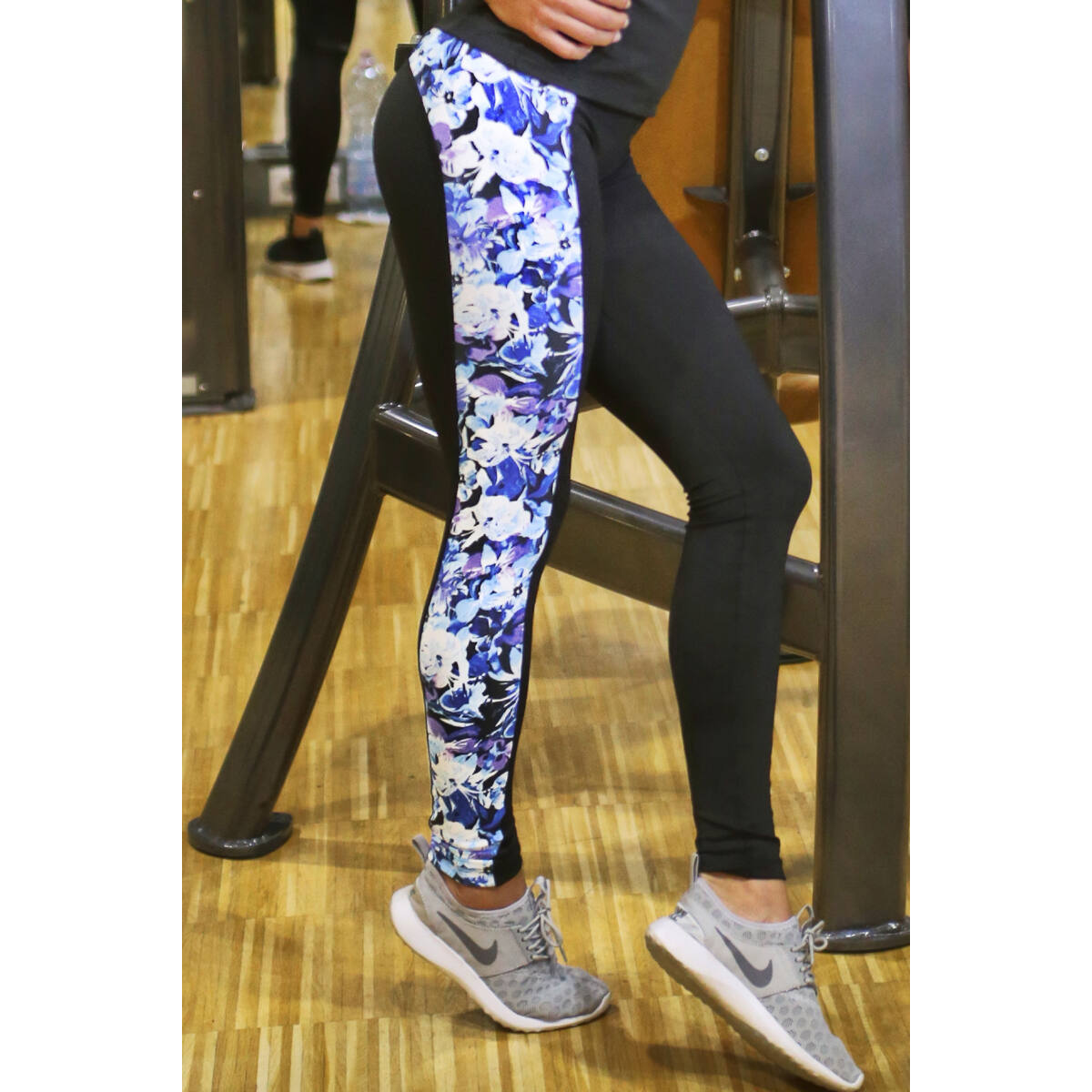 FLOWERS WAVE LEGGINGS, KÉK