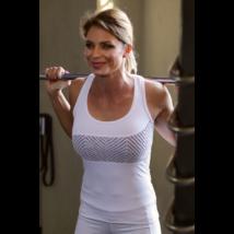 Fehér lace hullám női fitness atléta