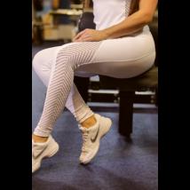 Fehér lace női fitness sport leggings