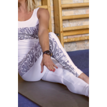 WHITE ELEGANCE WAVE LEGGINGS