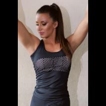Fekete lace hullám női fitness atléta