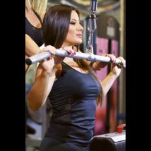 Fekete lace oldalbetétes női fitness atléta