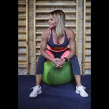 Szürke-korall basic női fitness top
