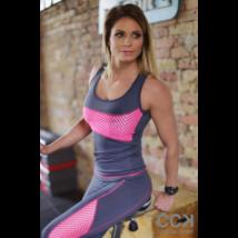 Szürke-pink lace hullám női fitness atléta