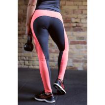 Szürke-korall basic női fitness hosszú nadrág - CCK - COCKTAIL SPORT