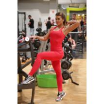 Piros basic női fitness sport leggings + atléta szett