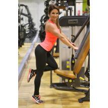 Neon korall (rio) basic női fitness sport leggings + atléta szett