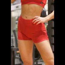 Piros basic női fitness sport short