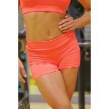 Neon korall (rio) basic női fitness sport short