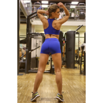 Királykék basic női fitness sport lshort + top szett