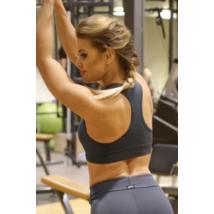 Szürke basic női fitness sport top