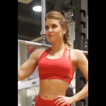 Piros basic női fitness sport top