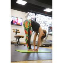 Flame jungle női fitness tüll leggings +fekete atléta szett