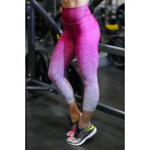 Melange magenta női fitnesz capri nadrág