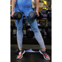 Melange kék női fitnesz boka nadrág
