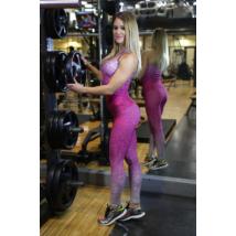 Melange magenta női fitnesz boka nadrág + atléta szett