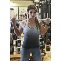 Melange szürke női fitnesz atléta