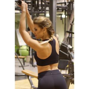 Fekete basic női fitness sport top