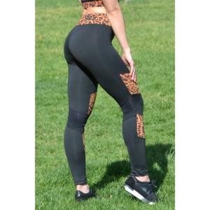Fekete-gepárd mozaik leggings