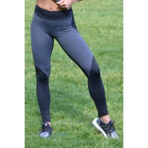 Fekete párduc nyomott mintás leggings