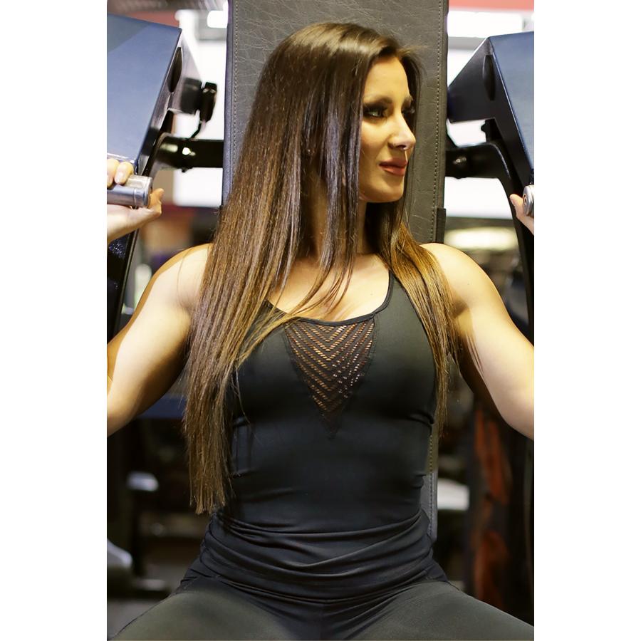 Fekete lace V női fitness atléta