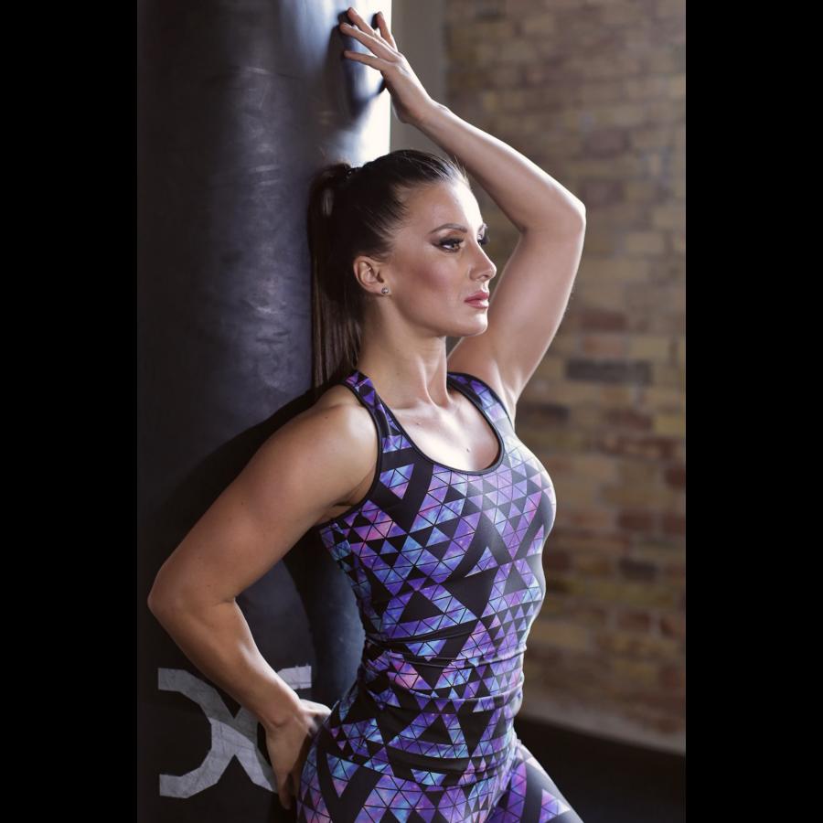 Univerzum kék mintás női fitness atléta - CCK - COCKTAIL SPORT