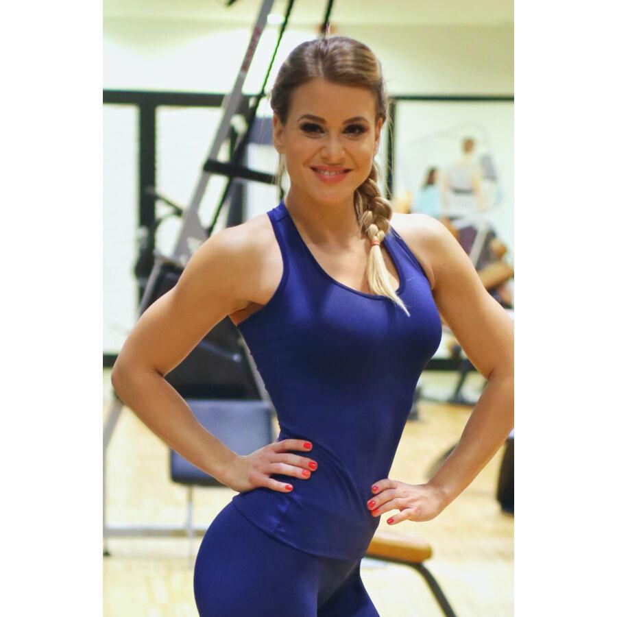 Női basic fitness atléta, sötétkék
