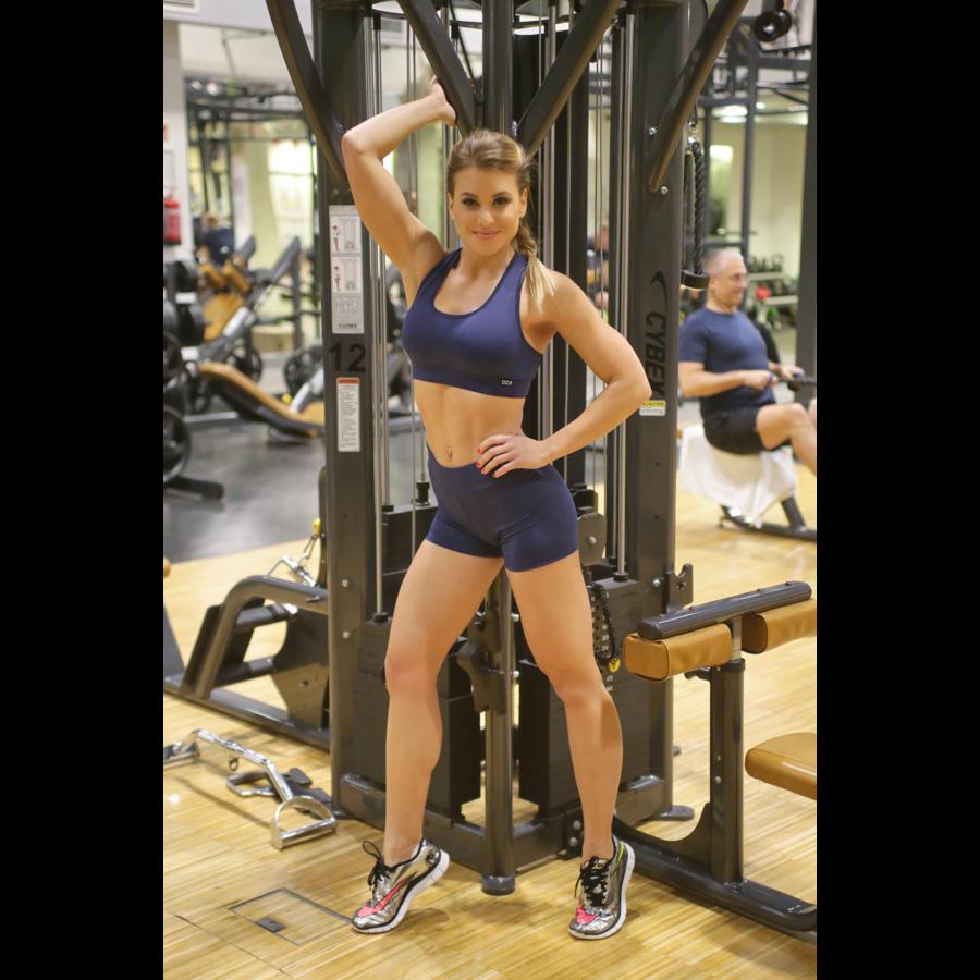 Női basic fitness szett, short+top
