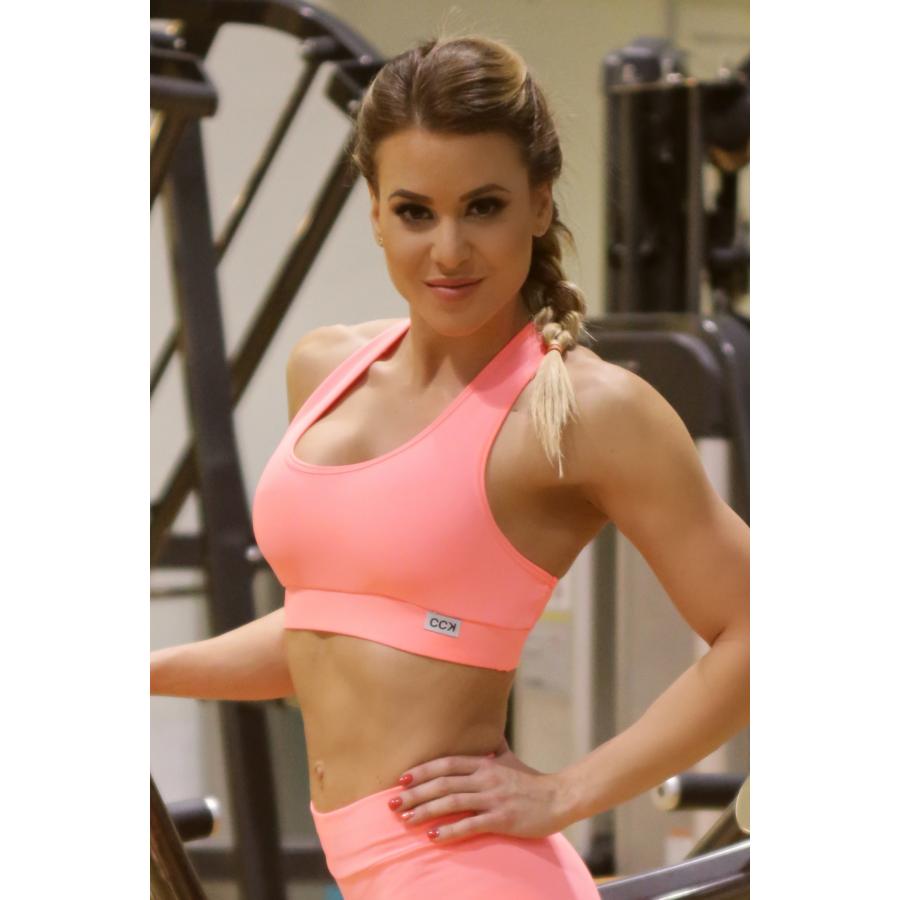 Női basic fitness sport top, királykék